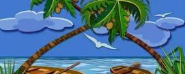 Coconut tree. The queen of the tropics