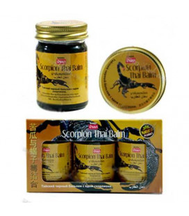 Banna Тайский черный бальзам с ядом скорпиона, 3 шт.