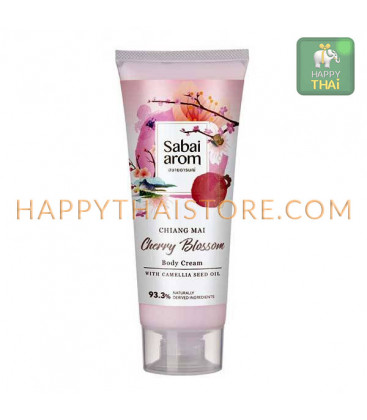 Sabai-arom Cherry Blossom Body Cream 200 g