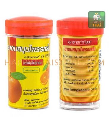 Kongka Herb Травяные шарики от кашля и боли в горле, 125 шт