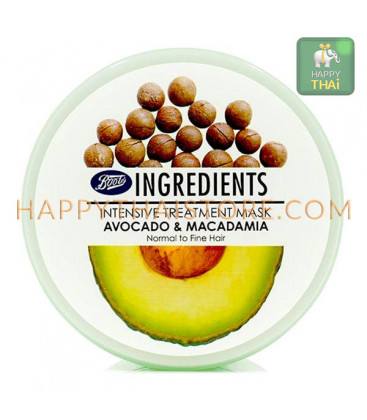 Boots Ingredients Avocado and Macadamia Intensive Hair Treatment, 400 ml
