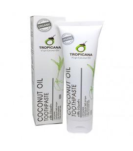 Tropicana Органическая зубная паста с кокосовым маслом, 100 г