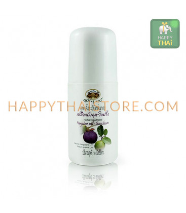 Abhaibhubejhr Herbal Roller Deodorant with Mangosteen and Guava, 50 ml