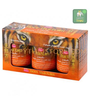 Banna 100% Original Tiger Herbal Balm for Arthritis & Back Pain Relief, 3 x 50 g