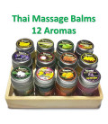 CocoD Thai Herbal Massage Balm Pain Relief Balm Different Aroma, 15 g x 12 psc
