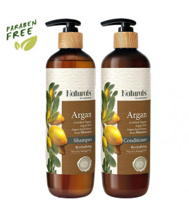 Naturals by Watsons Argan Shampoo & Conditioner 490 ml