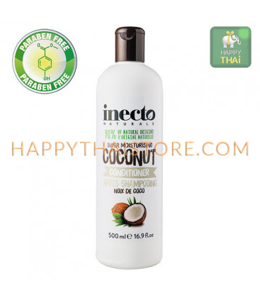 Inecto Naturals Super Moisturising Coconut Shampoo & Conditioner, 500 ml