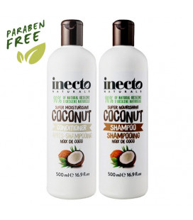 Inecto Увлажняющий кокосовый шампунь и кондиционер, 500 мл