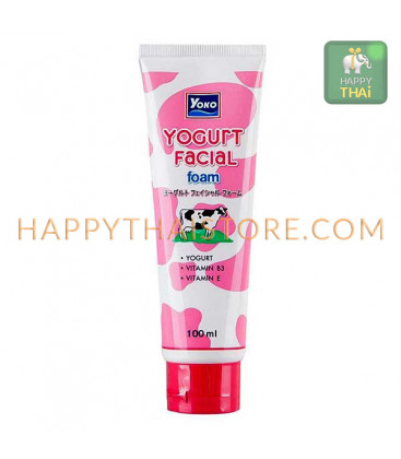 YOKO Yogurt Milk Strawberry Extract Facial Foam 100 ml