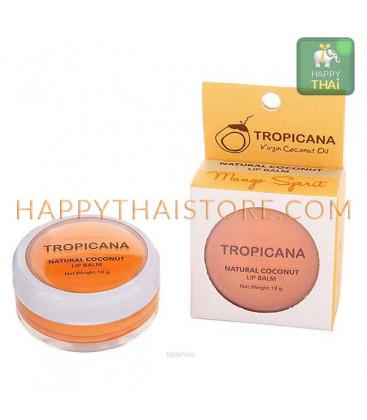 Tropicana Бальзам для губ на основе кокосового масла, 10 г