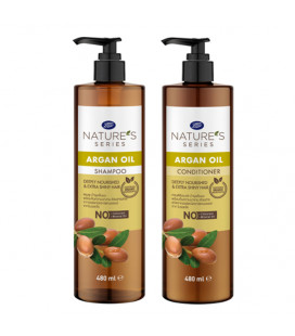 Nature's Series Argan Oil Shampoo & Conditioner, 480 ml