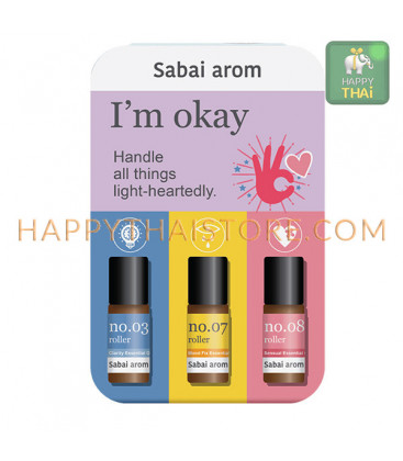 Sabai-arom I'm OKAY Petit Trio On The Go 3 ml. X 3 pcs