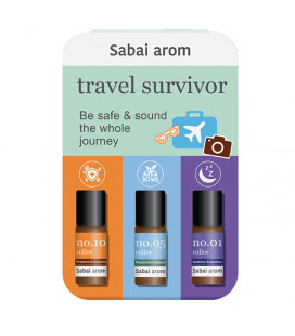 Sabai-arom Sabai-arom Набор ароматичеcких масляных роллеров, 3 мл x 3 шт