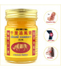 Set Thai yellow balm for back pain, joints, muscles 3pcs x 50 g