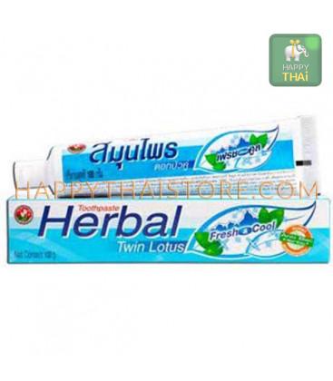 Растительная зубная паста Twin Lotus Herbal Fresh & Cool, 100 гр