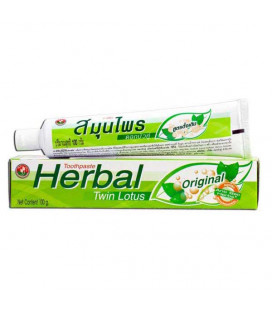 Twin Lotus Herbal Toothpaste Original, 100 g