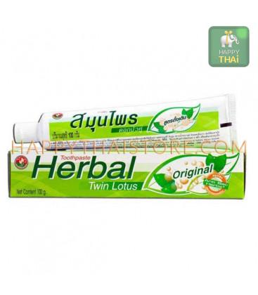 Растительная зубная паста Twin Lotus Herbal Original, 100 гр