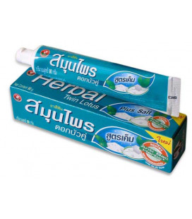 Twin Lotus Herbal Toothpaste Plus Salt, 90 g