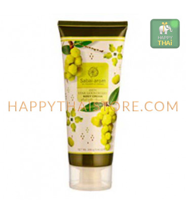 Sabai Arom Zesty Star Gooseberry Body Cream, 200 ml
