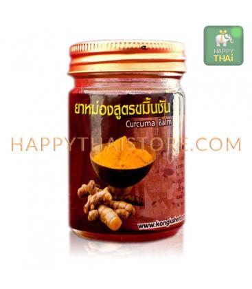 [Kongka Herb] Тайский согревающий бальзам с куркумой, 50 г