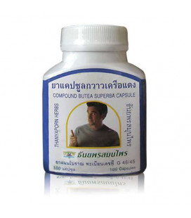 Thanyaporn Herbs Capsules for male potency Butea Superba (Kwao Kruea Daeng), 60 g
