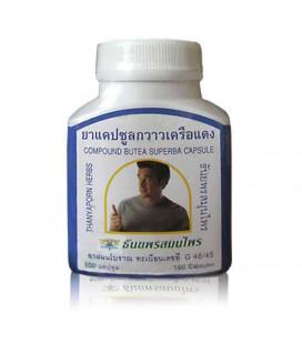 Thanyaporn Herbs Капсулы для мужской потенции Butea Superba (Kwao Kruea Daeng), 60 г
