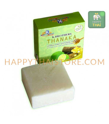 K. Brothers Lemon and Honey Whitening Soap with Thanaka, 60 g