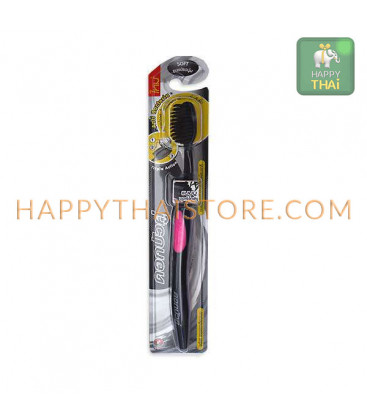 Twin Lotus Antibacterial Toothbrush Bamboo and Charcoal