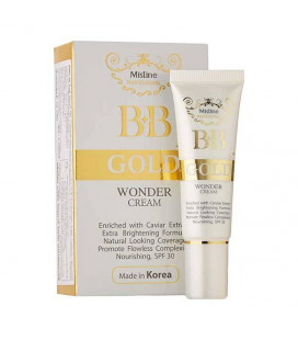 Mistine BB Gold Wonder Cream Caviar Extract Brightening SPF30, 15 g