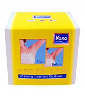 Yoko Отбеливающий крем и дезодорант для подмышек, 50 г