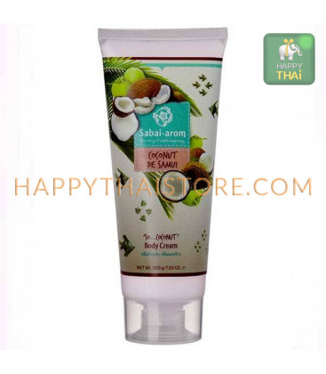 Sabai-arom Coconut De Samui 'So...Coconut' Body Cream, 200 g