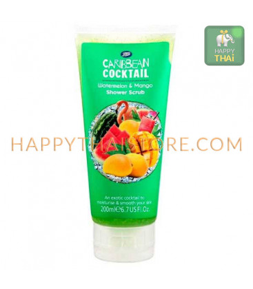 Boots Caribbean Cocktail Barbados Shower Scrub - Watermelon & Mango 200 ml