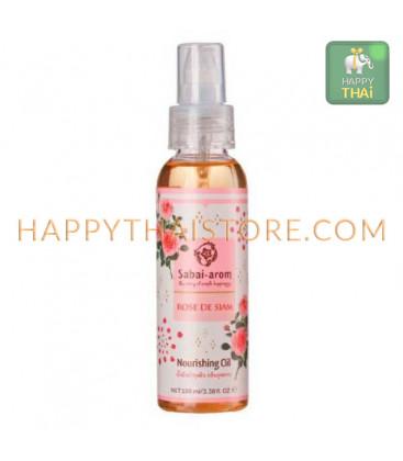 Sabai-arom Питательное масло-спрей для тела, Серия Роза, 100 мл
