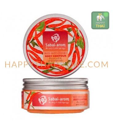 Sabai-arom Средство для коррекции контура тела Острый Красный Чили и Черный Перец, 100 г