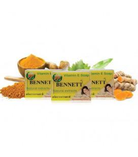 Bennett Отбеливающее мыло с витамином Е и экстрактом куркумы, 130 г