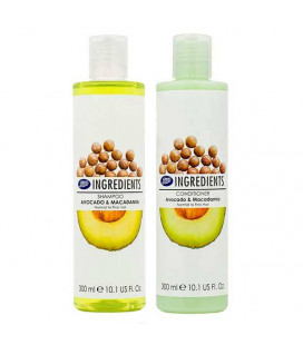 Boots Ingredients Shampoo & Conditioner Avocado & Macadamia, 300 ml
