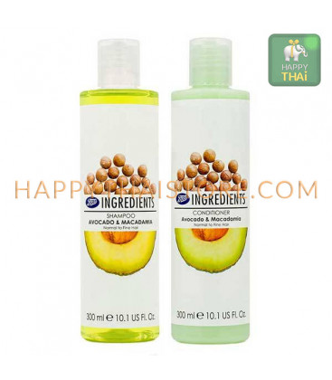 Boots Ingredients Shampoo&Conditioner Avocado & Macadamia