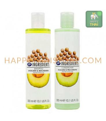 Boots Ingredients Shampoo&Conditioner Avocado & Macadamia