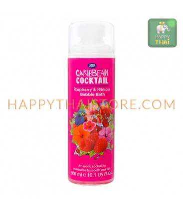 Boots Caribbean Cocktail Martini Bubble Bath - Raspberry & Hibiscus 300 ml